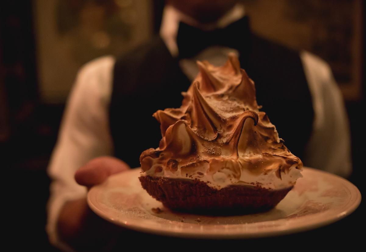 Server with Dessert